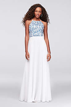 Halter Prom Dresses & Gowns for 2018 | David\'s Bridal