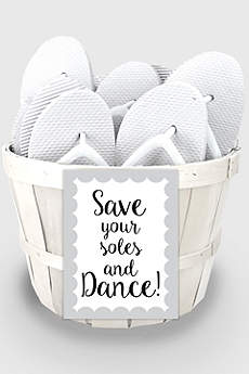 White (Wedding Flip Flop Favors Set of 16)
