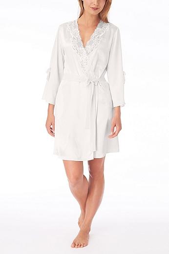 Oscar De La Renta Lace Trim Robe 684921