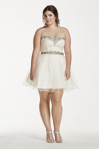 Crystal Cheetah Brocade Short Tulle Dress 698741DW