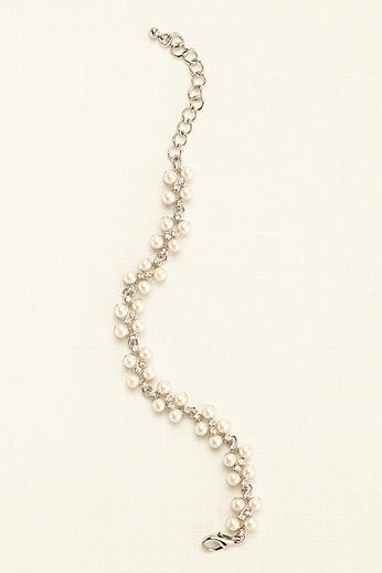 Pearl Cluster Line Bracelet 703863738