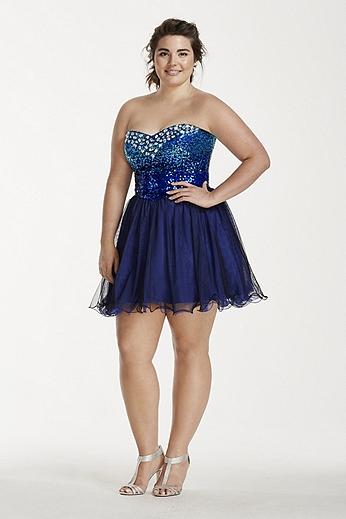 Short Strapless Jewel Embellished Sweetheart Dress 703976W