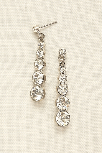 Graduated Crystal Drop Earrings 70503124