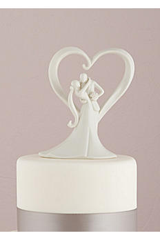 Stylish Embrace Cake Topper 7087