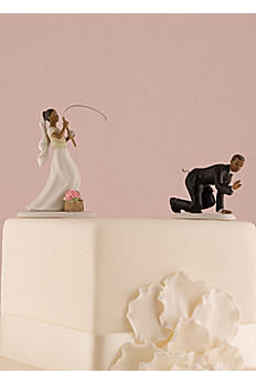 Fishing Bride and Caught Groom Cake Toppers 7103