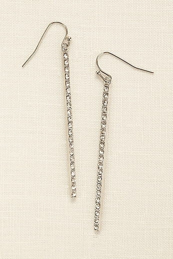 Linear Pave Earrings 71222124