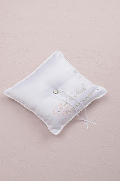 fairytale dreams square ring bearer pillow 7166 - Wedding Ring Pillow