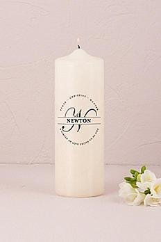 Personalized Family Circle Monogram Unity Candle 7208