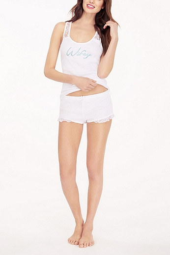 Betsey Johnson Wifey Tank and Short Set 731907BRD