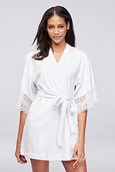 Betsey Johnson Embroidered Terry Cloth Mrs Robe