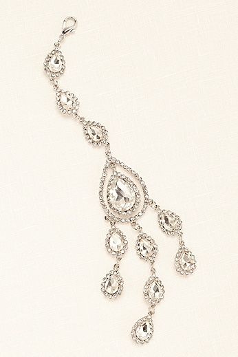 Crystal Medallion Back Necklace Extender 73693N