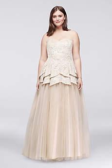 Long Ballgown Strapless Prom Dress - Masquerade