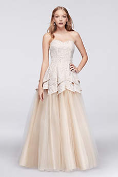 Long Ballgown Strapless Prom Dress - Masquerade