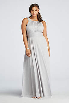 Soft & Flowy Cachet Long Bridesmaid Dress