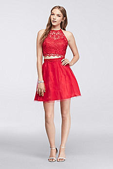 Homecoming Crop Top with Tulle Skirt 7870902
