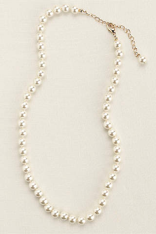 Bridal wedding necklaces davids bridal classic short pearl necklace junglespirit Image collections