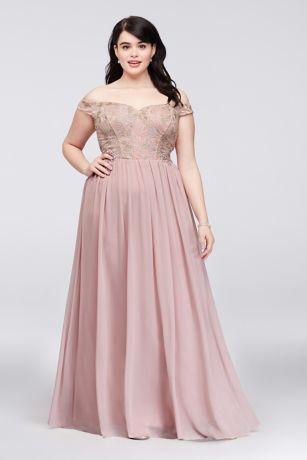 Over the Shoulder Plus Size Dresses