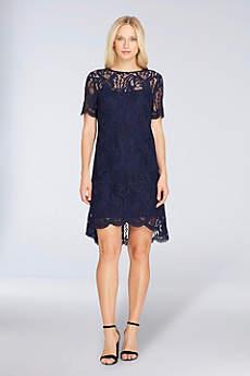 Short Sheath Short Sleeves Cocktail and Party Dress - Tahari ASL
