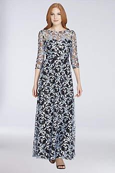 Long 3/4 Sleeves Formal Dresses Dress - Tahari ASL