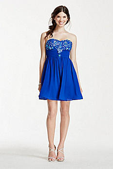 Strapless Beaded Dress 8344XX8P