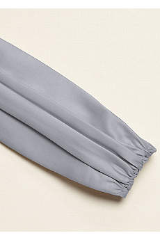 Satin Ruched Wide Sash