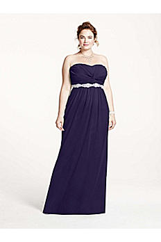 Strapless Prom Dress with Ruched Bust and Beading 8420DW3W