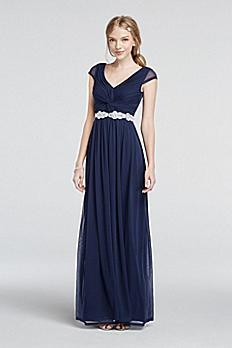 Cap Sleeve Dress with Beaded Waist 8420GM8B
