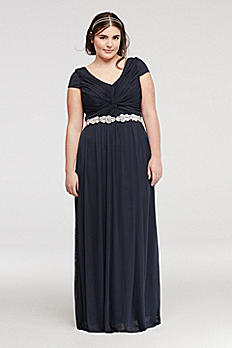 Cap Sleeve Dress with Embellished Waist 8420GM8W