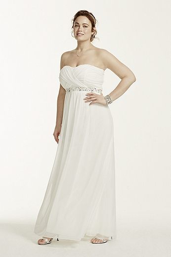 Strapless Dress with Crisscross Embellished Back 8420HH3W