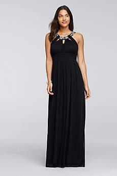 Long A-Line Halter Formal Dresses Dress - City Triangles