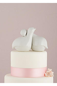 Contemporary Love Birds Cake Topper 8458
