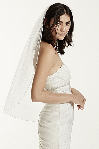 One Tier Tulle Veil with Pencil Edge 850