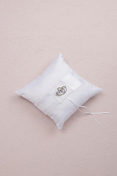 Classic Double Heart Square Ring Bearer Pillow 8528