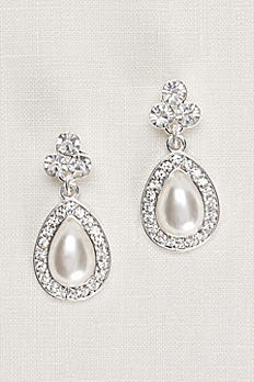 Crystal Trio and Pear Pearl Earrings 85727124