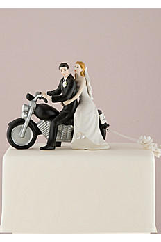 Motorcycle Bride and Groom Cake Topper 8660