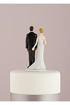 The Love Pinch Bridal Couple Cake Topper 8664