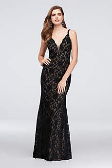 Long Mermaid/ Trumpet Spaghetti Strap Prom Dress - Xscape
