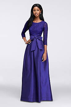 Long Ballgown 3/4 Sleeves Mother and Special Guest Dress - RM Richards