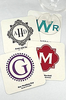 Personalized Monogram Square Paper Board Coasters 8829002