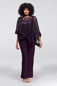 Long Jumpsuit Capelet Formal Dresses Dress - RM Richards