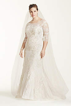 Long Vintage Wedding Dress - Oleg Cassini
