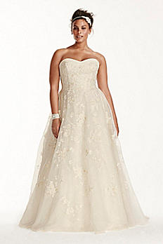 Oleg Cassini Organza Wedding Dress with Beading 8CWG700
