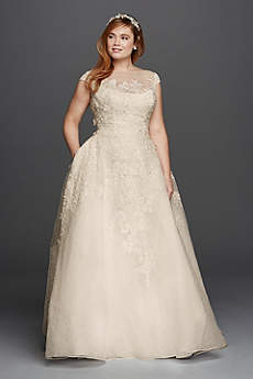 long ballgown formal wedding dress oleg cassini