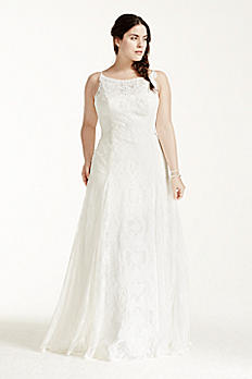 Melissa Sweet High Neck Plus Size Wedding Dress 8MS251110
