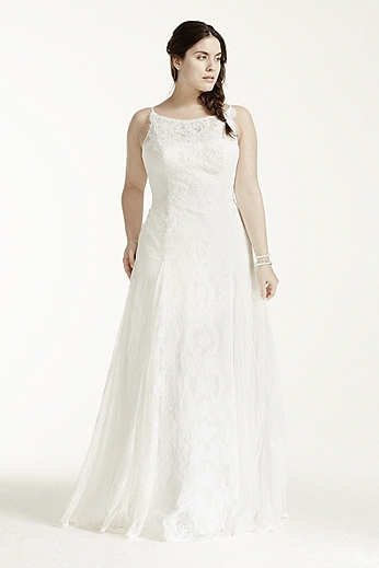Lace Trumpet Gown with High Neckline 8MS251110