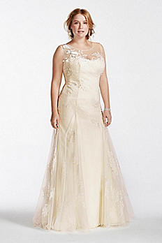 Melissa Sweet Beaded Tank Plus Size Wedding Dress 8MS251114