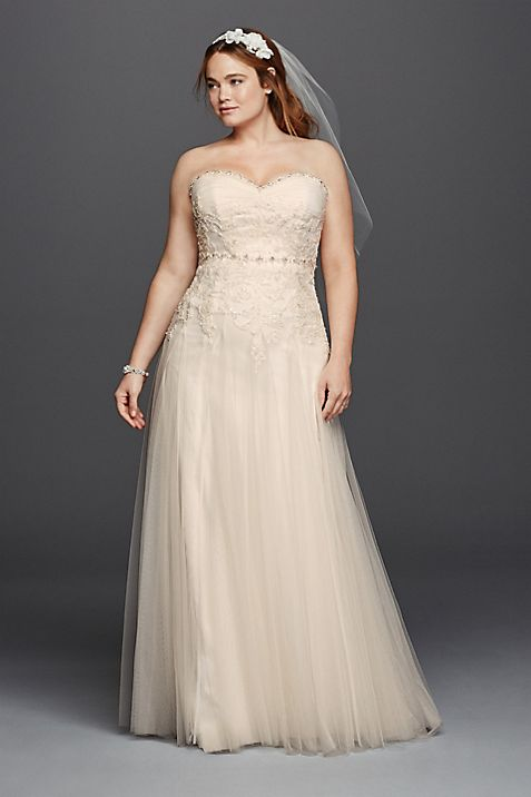 Melissa Sweet Beaded Plus Size Wedding Dress   David\'s Bridal