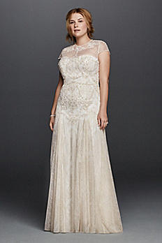 Melissa Sweet Wedding Dress with Cap Sleeves 8MS251136