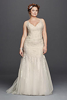 Melissa Sweet Illusion Tank Wedding Dress 8MS251150
