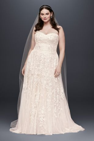 Melissa Sweet Lace A-Line Plus Size Wedding Dress | David\'s Bridal